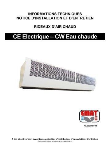 CE Electrique – CW Eau chaude - EMAT