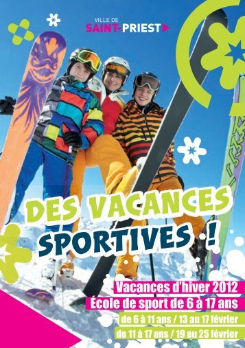 Vacances d'hiver 2012 École de sport de 6 à 17 ans - Saint-Priest