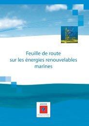 Feuille de route énergies marines - Ademe