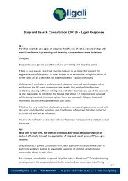 Stop and Search Consultation (2013) – Ligali Response