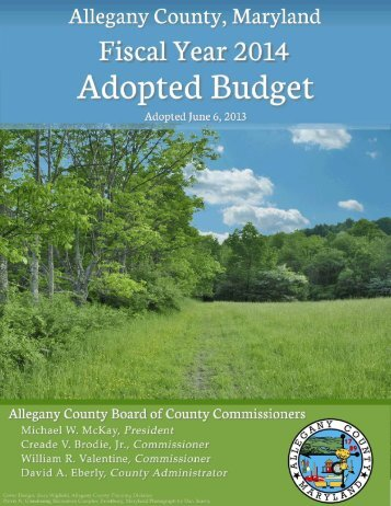 Review Budget Document - Allegany County Government - Allconet