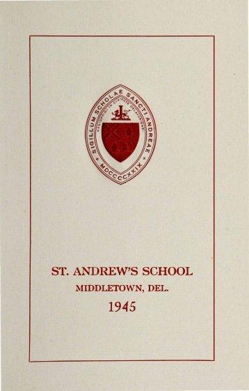 ST. ANDREW'S SCHOOL - Saint Andrew's School Archive