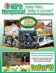 Doing More… Doing It Greener! - Town of North Hempstead