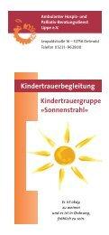 Kindertrauergruppe »Sonnenstrahl - Ambulanter Hospiz- und ...