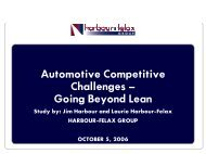 Going Beyond Lean - Automotive Industry Action Group