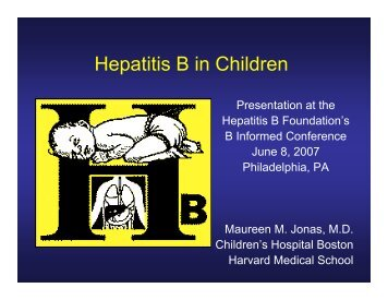 Children with HBV - Hepatitis B Foundation