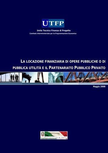 la locazione finanziaria di opere pubbliche o di pubblica ... - UTFP