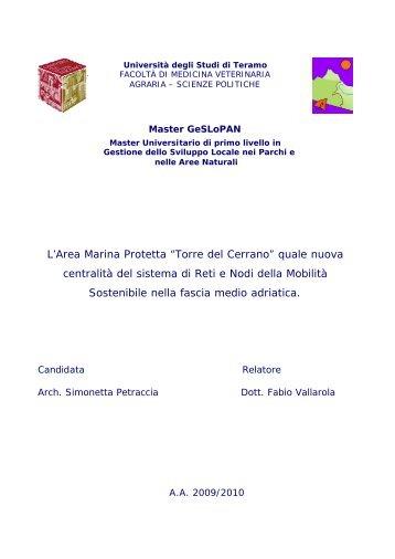 PETRACCIA S., Ciclabile Cerrano, Tesi MasterGeSLoPAN, 2010.pdf