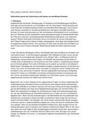 Informelles Lernen bei Lehrerinnen und Lehrern - Halinco.de