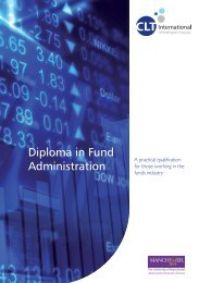 Diploma in Fund Administration - Brochure