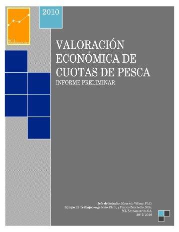 VALORACIÓN ECONÓMICA DE CUOTAS DE PESCA
