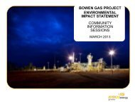 BOWEN GAS PROJECT ENVIRONMENTAL IMPACT ... - Arrow Energy