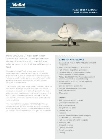 Model 8009A 9.1 Meter Earth Station Antenna - Sky-brokers.com