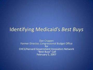 Identifying Medicaid's Best Buys