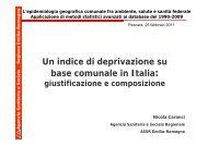 Un indice di deprivazione su base comunale in Italia - Portale Sanità ...