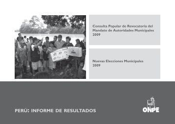 PERú: INFORME DE RESULTADOS - ONPE
