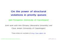 On the power of structural violations in priority queues - The CPH STL