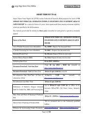 Schedules - Jaipur Vidyut Vitran Nigam Limited