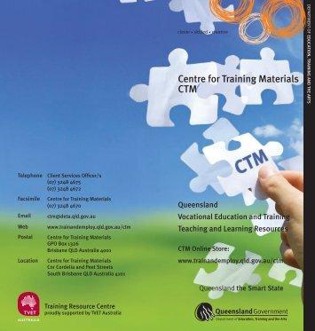 Centre for Training Materials - Training Queensland