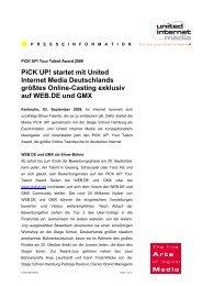 Pick UP! startet mit United Internet Media Deutschlands größtes ...