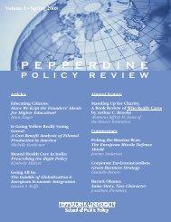 Pepperdine University School of Public Policy