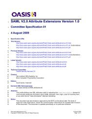 SAML V2.0 Attribute Extensions Version 1.0 - docs oasis open - Oasis