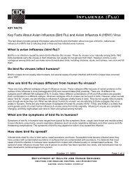 Key Facts About Avian Influenza (Bird Flu) - U.S. Department of ...