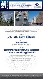 20. - 21. SEPTEMBER BERGEN ... - Norvegfinans