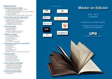2011 - 2012 VII Edición - Publicacions de la Universitat Autònoma ...