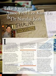 Take 5 with Assoc prof lee Kim en dr natalie Koh & - SingHealth ...