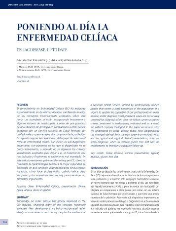 Poniendo al día la enfermedad CelíaCa - Clínica Las Condes
