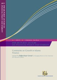 Constraints on Growth in Islamic Finance - IFSB