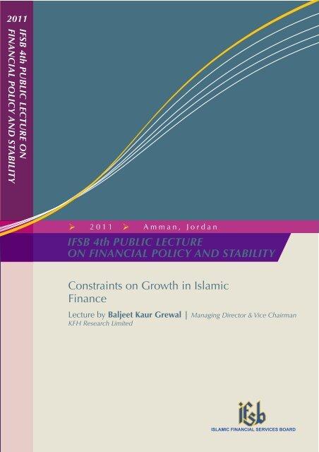 Constraints on Growth in Islamic Finance - IFSB