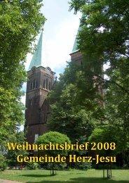 Weihnachtsbrief 2008 Gemeinde Herz-Jesu