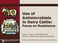 Use of Antimicrobials in Dairy Cattle: Dale Moore