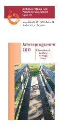 Jahresprogramm 2011 Informationen - Ambulanter Hospiz- und ...