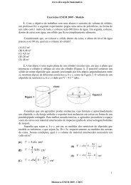 1 Exercícios ENEM 2009 - Modelo 1. Com o objetivo ... - CDCC - USP
