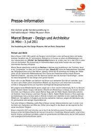 Marcel Breuer - Design und Architektur Eine ... - Kloster Baldegg