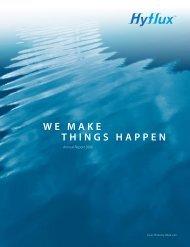 WE MAKE THINGS HAPPEN