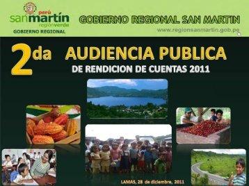 II AUDIENCIA PUBLICA 2011 - Gobierno Regional de San Martín