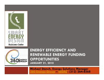 energy efficiency and renewable energy funding opportunities