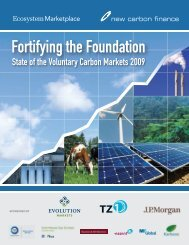 State of the Voluntary Carbon Markets 2009 - Ecosystem Marketplace