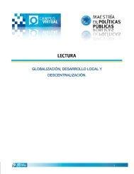 globalización, desarrollo local y descentralización. - Universidad de ...