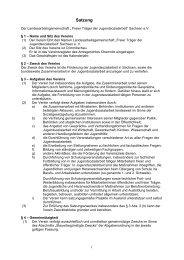 Satzung - LAG JSA Sachsen eV, Die Plattform zum konstruktiven
