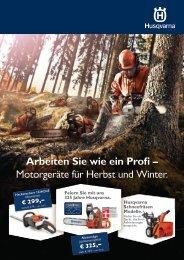 Husqvarna Herbst- Winteraktion 2014/2015