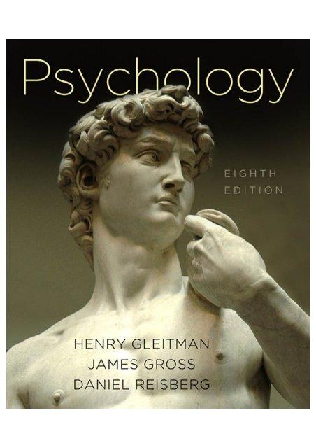 Psychology by gleitman, henry.