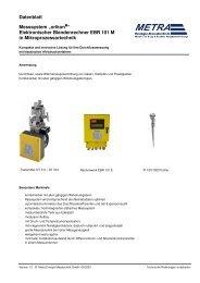 Datenblatt EBR 101M deutsch - METRA Energie