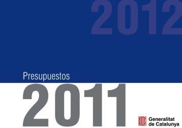 Presentación presupuesto 2011 - Generalitat de Catalunya