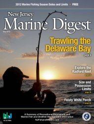 Trawling the Delaware Bay - State of New Jersey
