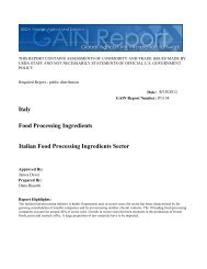 Italian Food Processing Ingredients Sector  Food ... - Chilealimentos